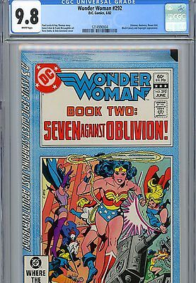 Wonder Woman 292 - Cgc 9.8 - White Pages - Power Girl, Huntress, Supergirl