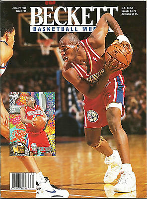 Beckett Basketball Monthly #66 (Jan. 1996) VG Jerry Stackhouse, Antonio McDyess
