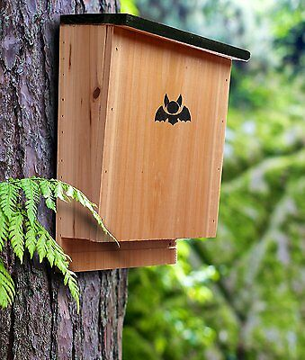 NEW Bat House - Premium Quality Shelter Nesting Box Hand Crafted Control Pests