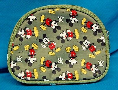 Disney Mickey Mouse Green Cosmetic Bag