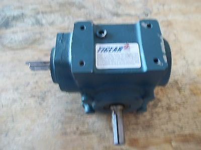 Unused Tigear 2 Right Angle Worm Gear Reducer 13S15L Ratio 15:1