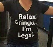 Relax Gringo... I'm Legal. T-Shirt V-Neck Woman
