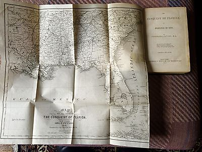 New Listing: Conquest Of Florida By Desoto, 1851 Edition Huge Map