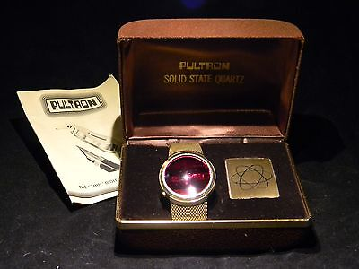 Vintage PULTRON LED Watch with Original Box