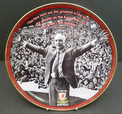 """Danbury Mint 8"""" Liverpool Football Club Plate 'the Greatest In The Land' Anfield"""