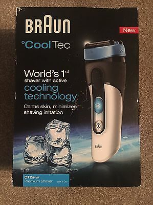 Braun Cool Tec Shaver Ct2sw New Cooling Technology Wet & Dry Premium Shaver