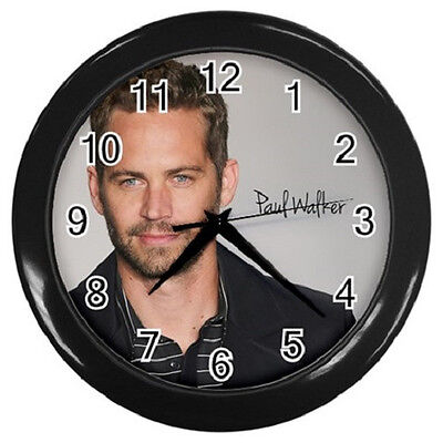 PAUL WALKER 10 inch 25cm COLLECTIBLE WALL CLOCK 99218335