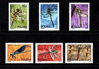 Poland - 1988 - Dragonflies - Dragonfly - Insect - Mint - Set Of 6!