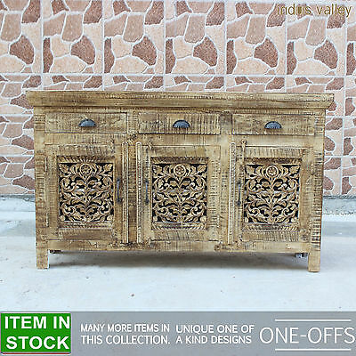 Jali Indian solid wood french sideboard buffet hutch console hall table 150cm