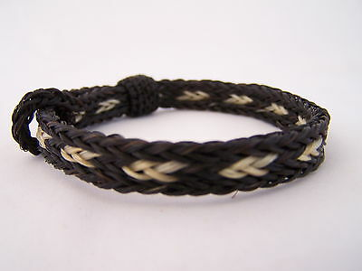 Western 3 Strand Braided Hitched Knot Horse Hair Bracelet