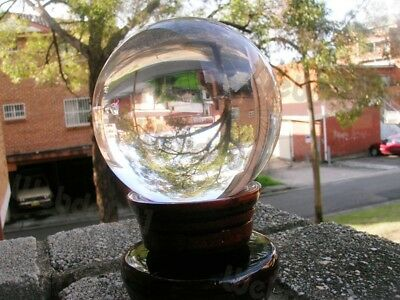 Clear Crystal Ball 80MM FENG SHUI /w Free Stand W.