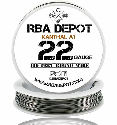 22 Gauge AWG Premium Kanthal Wire A1 Alloy Resistance Wire Roll 250 ft (White)