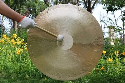 """30""""/75cm Wind gong with wood mallet Beautiful face & excellent sound"""