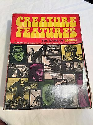 VINTAGE 1975 Creature Features RARE Universal Monsters Board Game Frankenstein