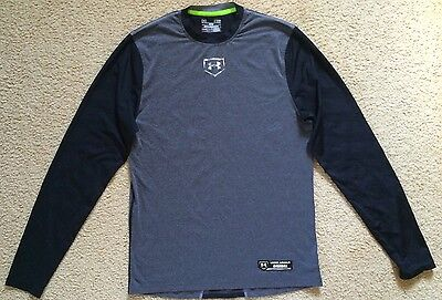 New Mens UNDER ARMOUR Baseball Compression Top Heat Gear Size MD Fitted