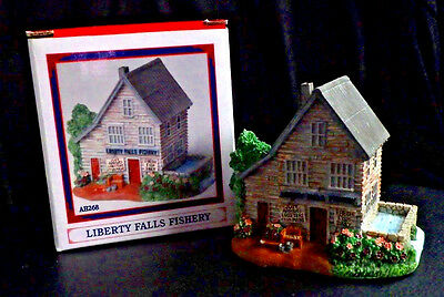 "Liberty Falls ""fishery"" Ah268 Christmas Western Snow Village Figurine"