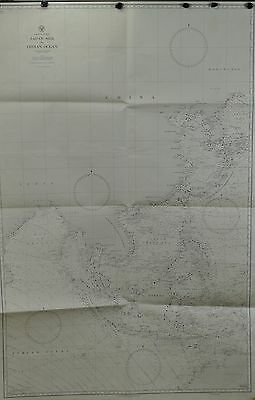 Japan Sea to Indian Ocean Hydrographic Map 1944