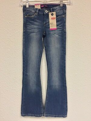 New Levi's Girl's Teens Skinny Flare Jeans With Adjustable Waistband