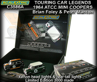 Scalextric C3586A Twin pack of the 1964 ATCC Mini Coopers - Limited Edition 3000