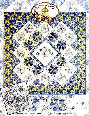 SUSAN'S DRESDEN GARDEN EMBROIDERY PATTERN From Crabapple Hill Studio NEW