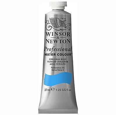 Winsor & Newton Professional Water Color Tube, 37ml, Cerulean Blue