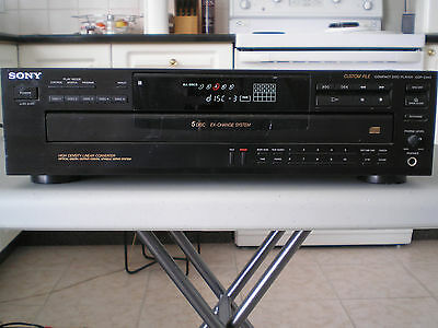 Sony CDP-C445 Compact Disc Player 5 Disc Changer with remote
