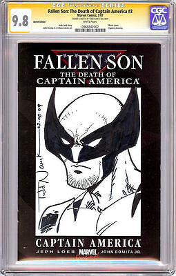 Fallen Son #3 Cgc Ss 9.8 Sketch Signed/sketched Wolverine Todd Nauck