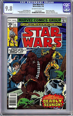 Star Wars #13 Cgc 9.8 Ow/white Pages Movie Marvel 1978