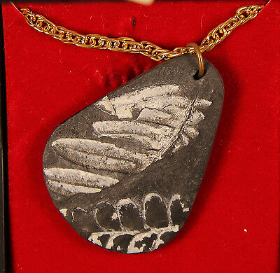 Fern Pendant with Golden Colored Chain