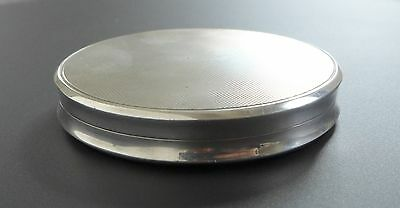 Vintage Solid 925 Sterling Silver Mirrored Powder Compact Antique Art Deco