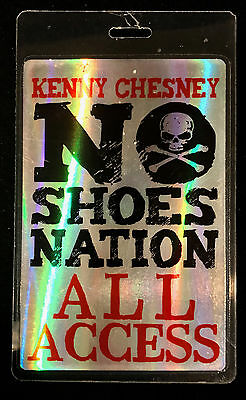 Kenny Chesney - All Access Tour Laminate Backstage Pass - 2013 Tour - LAST ONE!