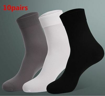 Hot Sale 10 Pair  Man Short Bamboo Fiber Socks Stockings Middle Socks 4 Colors