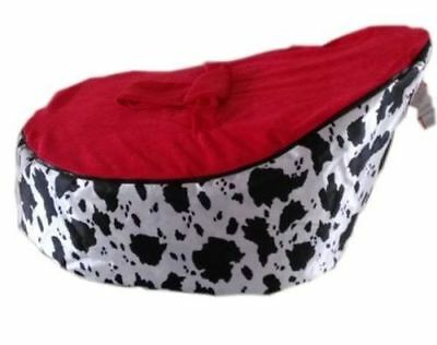 Cow Design New Born Baby Bean Bag Snuggle Bed Nursery Baby Sleeper No Fillings
