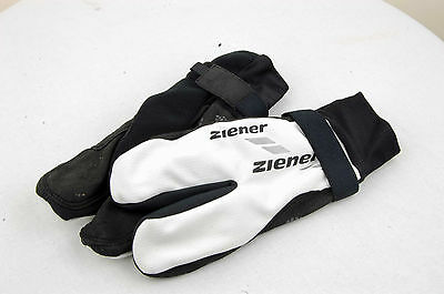 ZIENER Cross-country skiing gloves SOFTSHELL öSV Team Lobster 2-2 WS white black