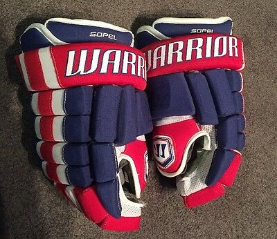 2010-11 Game Worn Used Signed Brent Sopel Montreal Canadiens Gloves Blackhawks