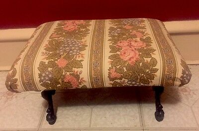 Antique Cast Iron Victorian Foot Stool / Ottoman ESTATE FIND