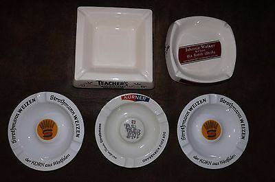 Johnnie Walker Ashtray, Teacher's Scotch Whiskey, Kornett Germany & Strothman We