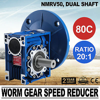 NMRV050 20:1 56c Speed Reducer Double Out Shaft New Good Soon DURABLE SERVICE