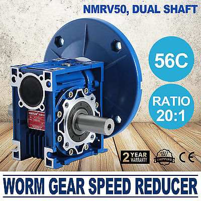 NMRV050 20:1 56c Speed Reducer Double Out Shaft Gearbox Sell Great GOOD PRESTIGE