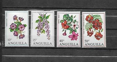 pk25144:Stamps - Anguilla #87-90 Flower Issues - Mint Never Hinged