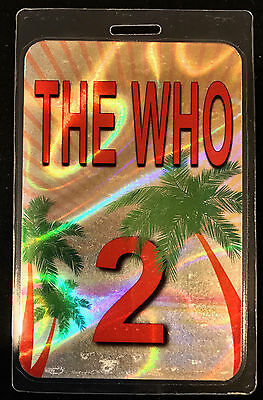The Who - All Access Tour Laminate Backstage Pass 2016 Desert Trip