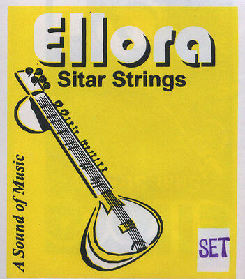 Sitar Strings, Ellora, complete set with sympathetic (tarabh) strings