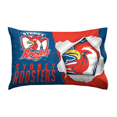 123678 Sydney Roosters Nrl Team Single Pillowcase Pillow Case Bedding Bed