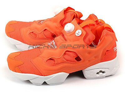 8d6c2859d813 Reebok Insta Pump Fury Tech Solar Orange White M46319 Classic Fashion  Running