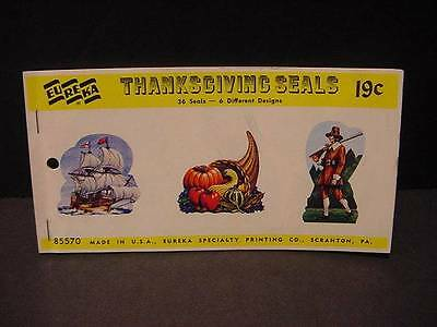 Eureka Package Vintage 1963 THANKSGIVING Seals/Stickers 6 Designs-36 Total-MIP