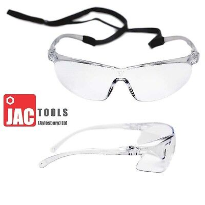 3M Tora Safety Specs 71501 Clear Lens With Head Strap Anti Fog Cycling Light