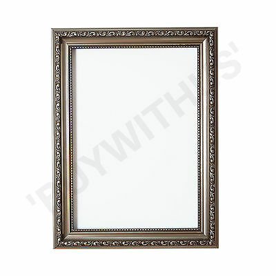 Ornate Shabby Chic Picture frame photo frame poster frame  Gunmetal UK MADE