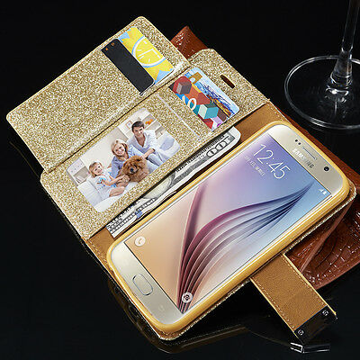 Magnetic Flip Cover Stand Wallet Leather Case For Samsung S8 Plus S5 S6 S7 J5