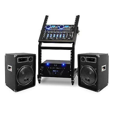 SET SONO COMPLET URANUS BLUES MIXER DJ + DOUBLE LECTEUR CD + AMPLI + 2x ENCEINTE