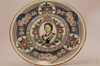 Caverswall 90th Birthday Queen Mother Plate 1990 771